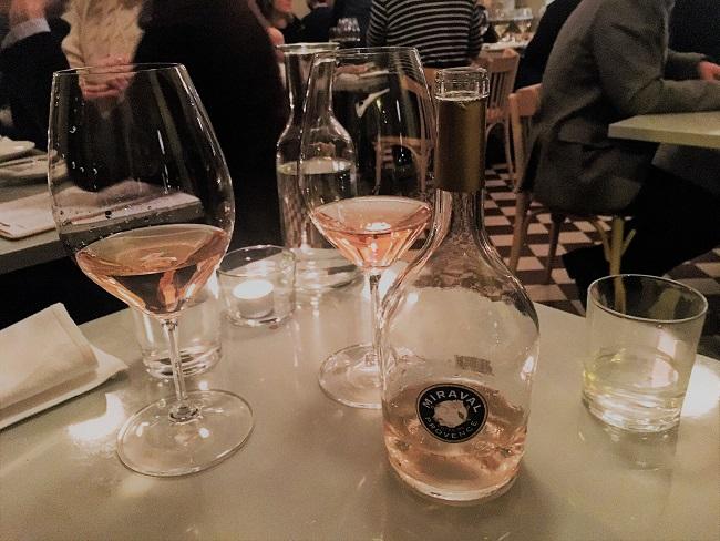 Miraval rose ravintola Werner Viinileidit St wine and friends