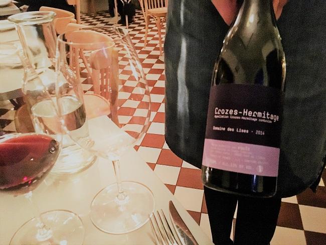 Punaviini crozes hermitage ravintola Werner Viinileidit St Wine and Friends