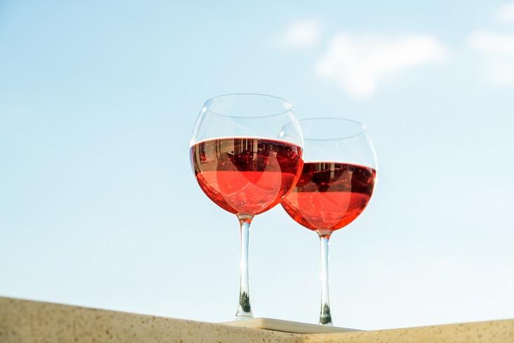 Viinileidit kesälomalla roseeviini
