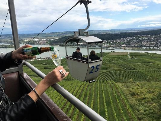 Saksan viinimatka Rhein viiniviljelmat St Wine and Friends viinikerho