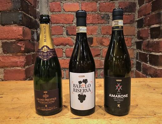 Tastingissä nyt pirkka viinit samppanja barolo amarone