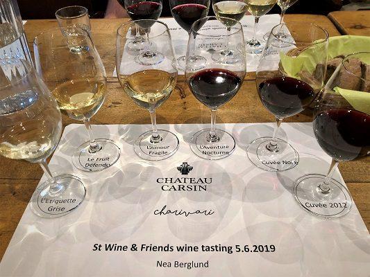 Tastingissä nyt chateau carsin charivari st wine and friends